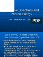 EM Wave Spectrum and Photon Energy