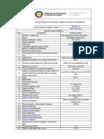 ESpecificaiones tecnicas fibradevidrio