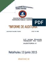 Informe de Auditoria NIA 700.