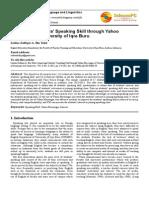 Improving Students' Speaking Skill Through Yahoo Messenger-10.11648.j.ijll.20150303.20. Saidna Zulfiqar Bin Tahir