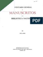 Catálogo Manuscritos Biblioteca Nacional
