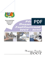Plan Desarrollo Institucional 2007-2011