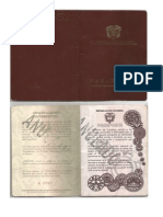 Pasaporte Antiguo
