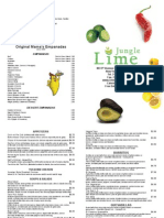 Lime Jungle menu