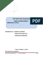TCS HR Questions
