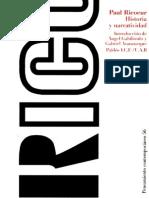 Ricoeur Paul - Historia Y Narratividad.pdf