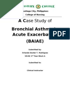 bronchial asthma case study pdf