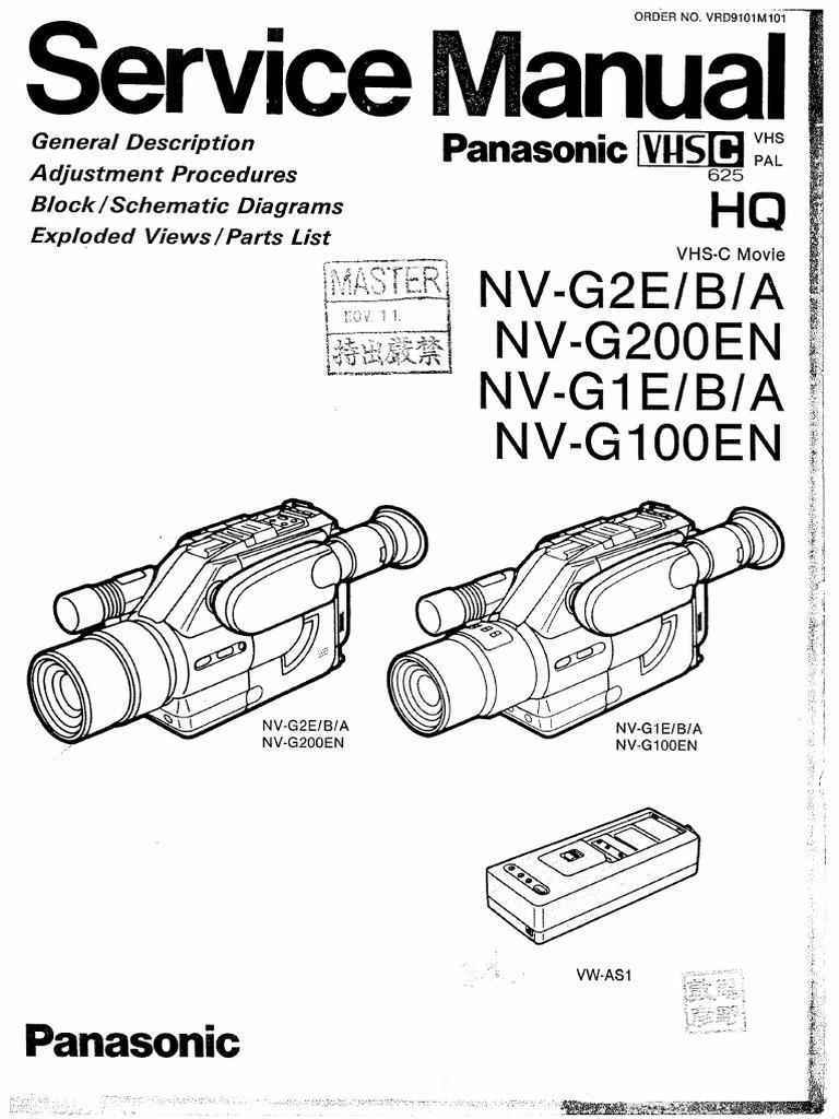 Manual Videocamara Panasonic Nv-G200