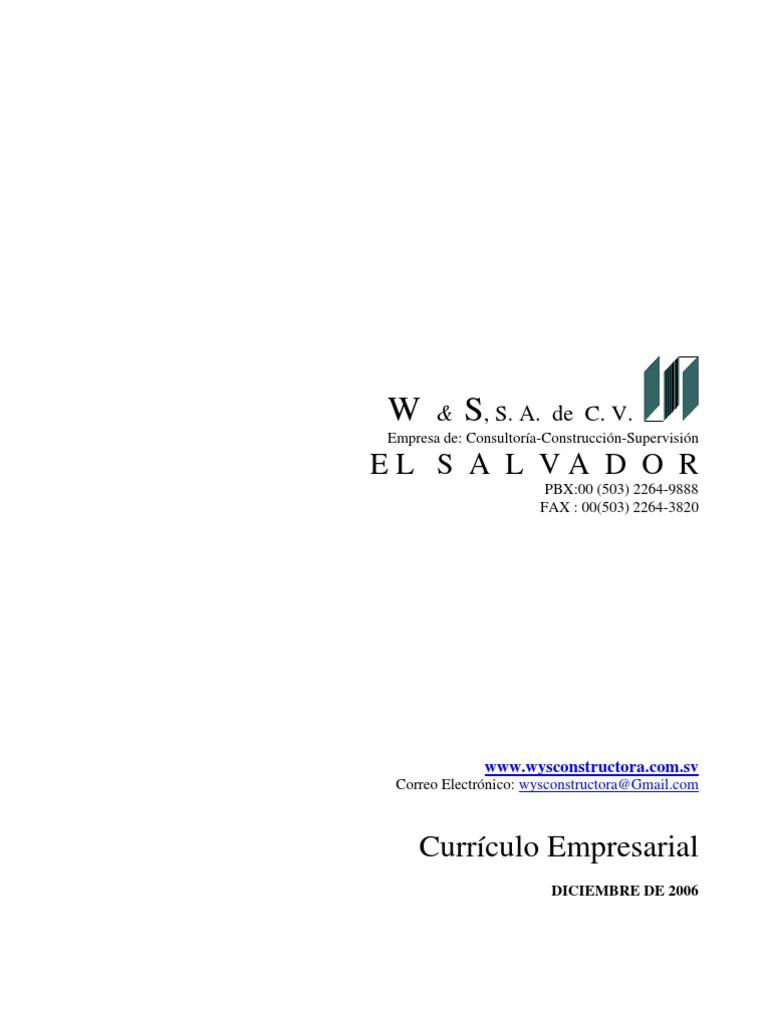 Curriculum Empresarial WyS Constructora Abril 2007