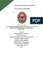 Transicion Demografica Peruana y Su Efecto en El Sector Laboral y Educativo