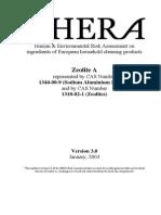 Human & Enviromental Risk - Zeolite A