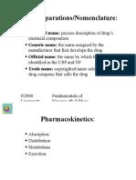 Drug Preparations - Nomenclature