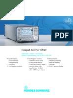 Rohde&Schwarz ESMC HF Reciever Datasheet