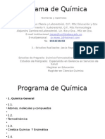Programa de Química Power Point