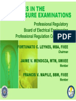 Guidelines PEE Licensure Exam