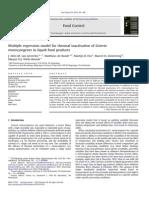 Inactivación Térmica de Listeria Monocytogenes en Productos Alimentarios Líquidos