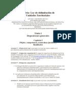 Ley de Delimitacion de Unidades Territoriales
