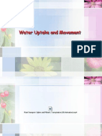 Lec5Water Uptake and Movement_PDF