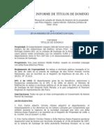 Modelos de Informe de Títulos de Dominio