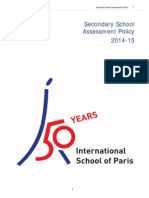 Secondary School Assessment Policy