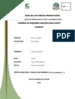 Informe Fertilizacion y Riego en PAPAYA