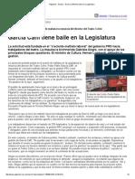 García Caffi Tiene Baile en La Legislatura - Diciembre