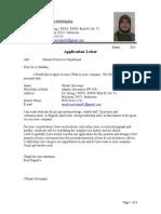 Application Letter & CV.doc