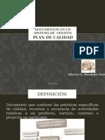 Documentos en Un Sistema de Gestión-plan de Calidad