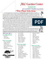 Water Wise Plants