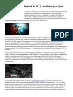 Le Top vente Jeux Android de 2011 - meilleurs jeux Apps