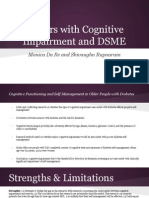 Seniors With Cognitive Impairment and DSME