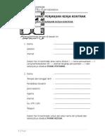 Contoh Surat Perjanjian Kerja Kontrak FH UII