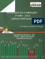 2. SLIDES II SIMULADO LP 2º ANO 2015.ppt