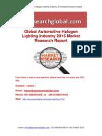 Global Automotive Halogen Lighting Industry 2015 Market Research Report