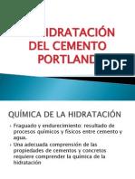 Hidratación Cemento