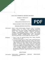 PP No 24 Tahun 2010 Tentang Penggunaan Kawasan Hutan