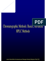 Chomatographic Methods Basics Advanced HPLC Methods 2012
