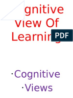 Cognitive View of Learning