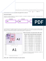 Dimensiones de Tamaños de Papel a - A0, A1, A2, A3, A4, A5, A6, A7, A8, A9, A10 - En Pulgadas y Mm