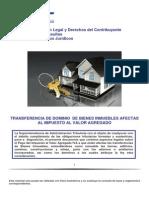 Transferencia de Dominio de Bienes Inmuebles Afectas Al Iva