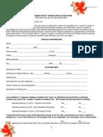 Designer Artist Application Form 120 2015