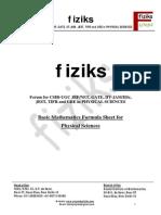 Mathematics Formula Sheet