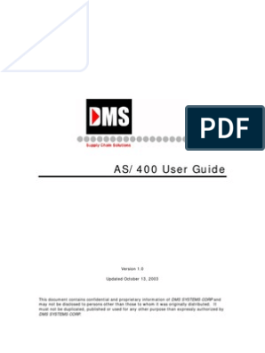 As 400 User Guide | Operating System | Command Line Interface
