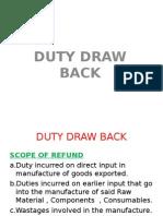 Duty Draw Back