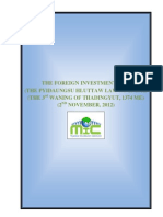Myanmar Foreign Investment Law