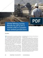 Global Mining Survey Results for 2012 2013 Reveals Shift