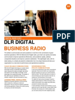 Motorola DLR Digital Business Two Way Radio Spec Sheet