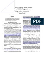 Multivariate Conditional Anomaly Detection and Its Clinical Application