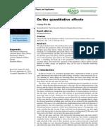 On the quantitative effects