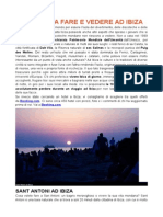 10 Cose Da Fare e Vedere Ad Ibiza